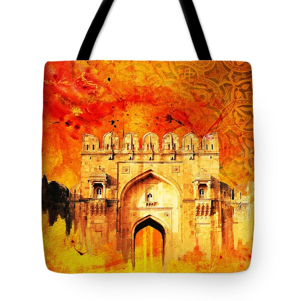 Rohtas Fort 01 Tote Bag by Catf
