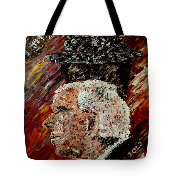 Roll Tide with Bear Bryant and Mal Moore  Tote Bag by Mark Moore