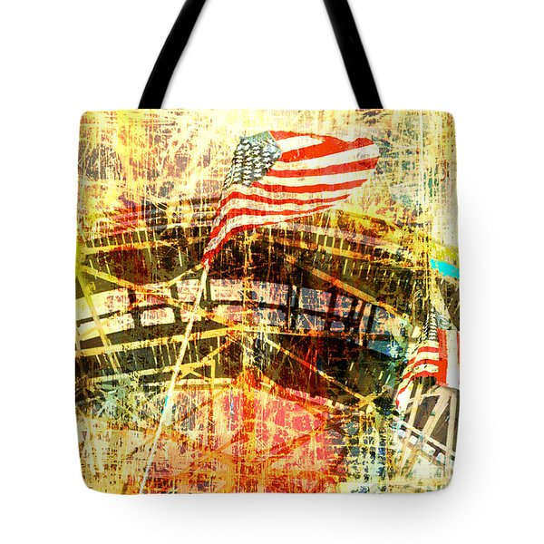 Roller Coaster Americana  Tote Bag by Anahi DeCanio