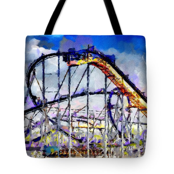 Roller Coaster Painting Tote Bag by Magomed Magomedagaev