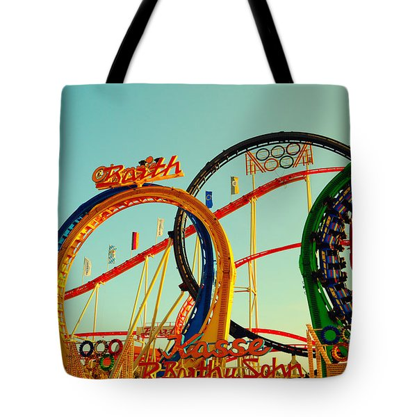 Rollercoaster At The Octoberfest In Munich Tote Bag by Sabine Jacobs