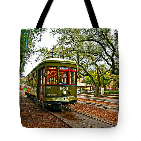 Rollin' Thru New Orleans Painted Tote Bag by Steve Harrington
