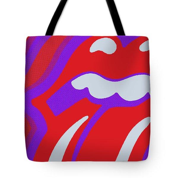 Rolling Stones Tote Bag by Tony Rubino