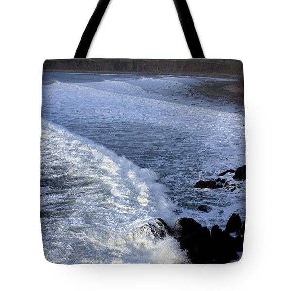Rolling Waves Tote Bag by Aidan Moran