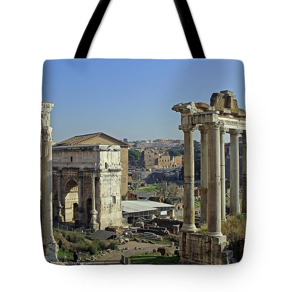 Roman Forum  Tote Bag by Tony Murtagh