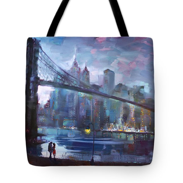 Romance By East River II Tote Bag by Ylli Haruni