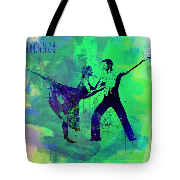 Romantic Ballet Watercolor 1 Tote Bag by Naxart Studio