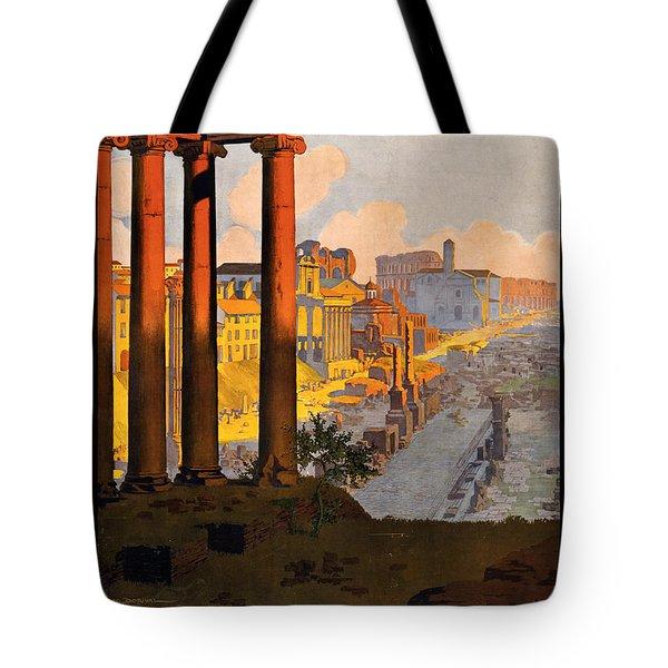 Rome Par La Voie Du Mont-cenis Tote Bag by Georgia Fowler