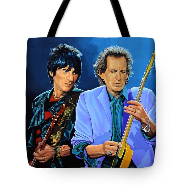 Ron Wood and Keith Richards Tote Bag by Paul  Meijering
