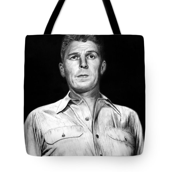 Ronald Regan Tote Bag by Peter Piatt