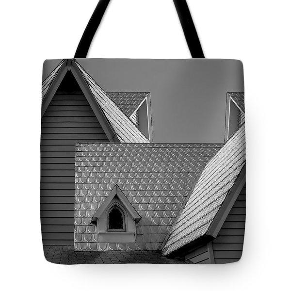 Roof Lines Tote Bag by Debra and Dave Vanderlaan