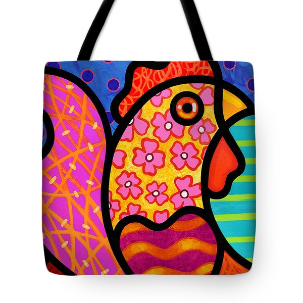 Rooster Dance Tote Bag by Steven Scott