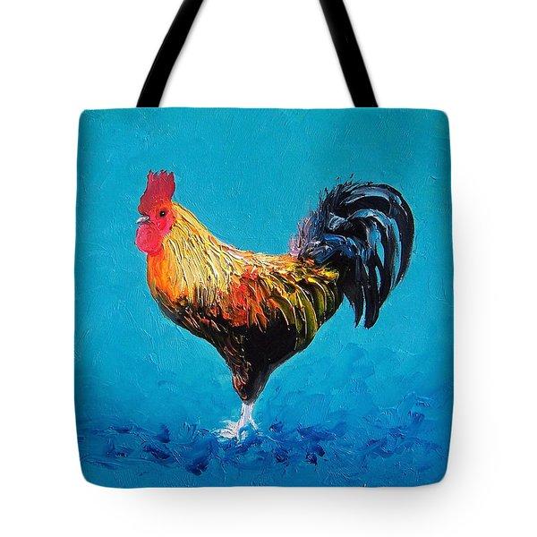 Rooster Emanuel Tote Bag by Jan Matson