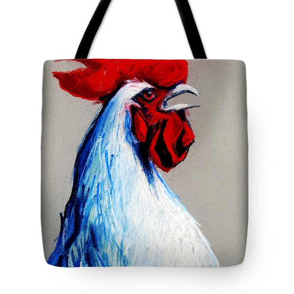 Rooster Head Tote Bag by Mona Edulesco