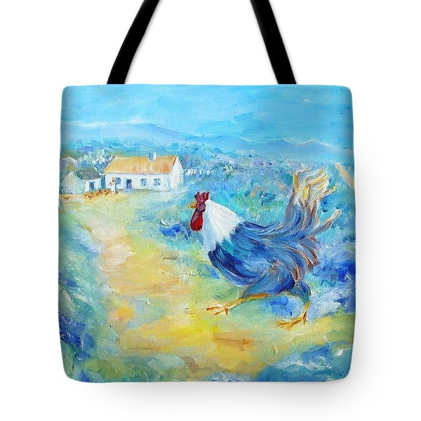 Rooster On Dingle Peninsula  Tote Bag by Trudi Doyle