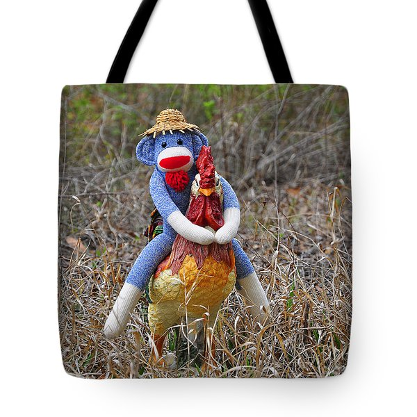 Rooster Rider Tote Bag by Al Powell Photography USA