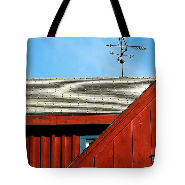Rooster Weathervane Tote Bag by Sabrina L Ryan