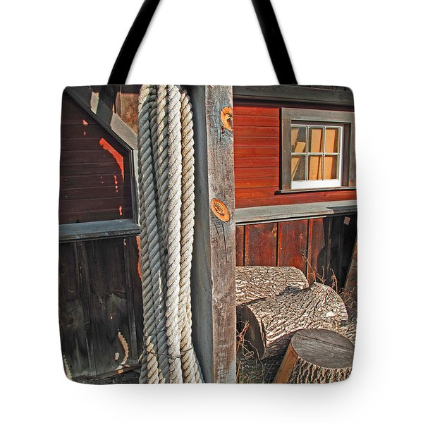 Ropes And Woods Tote Bag by Barbara McDevitt