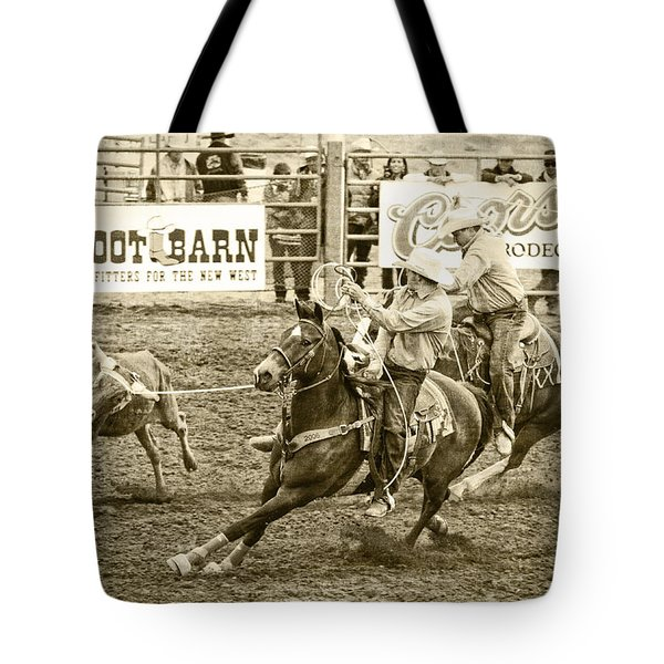 Roping Tote Bag by Caitlyn  Grasso