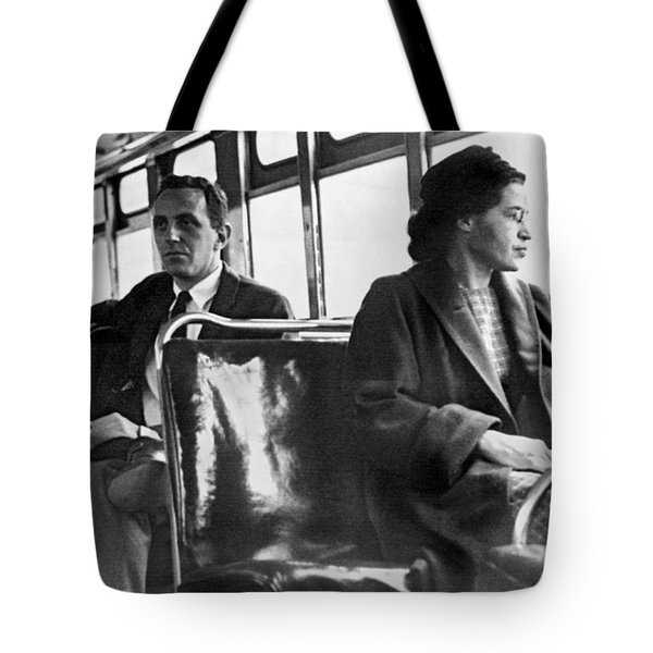 Rosa Parks On Bus Tote Bag by Underwood Archives