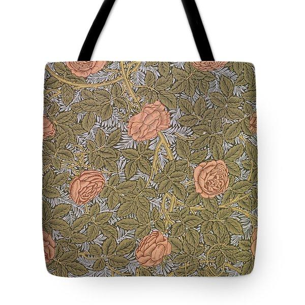 Rose 93 Wallpaper Design Tote Bag by William Morris