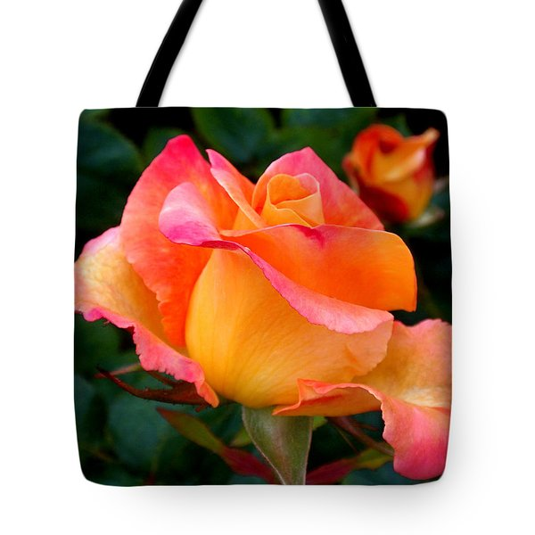 Rose Beauty Tote Bag by Rona Black