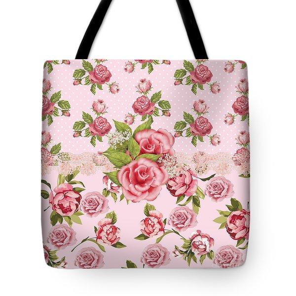 Rose Elegance Tote Bag by Debra  Miller
