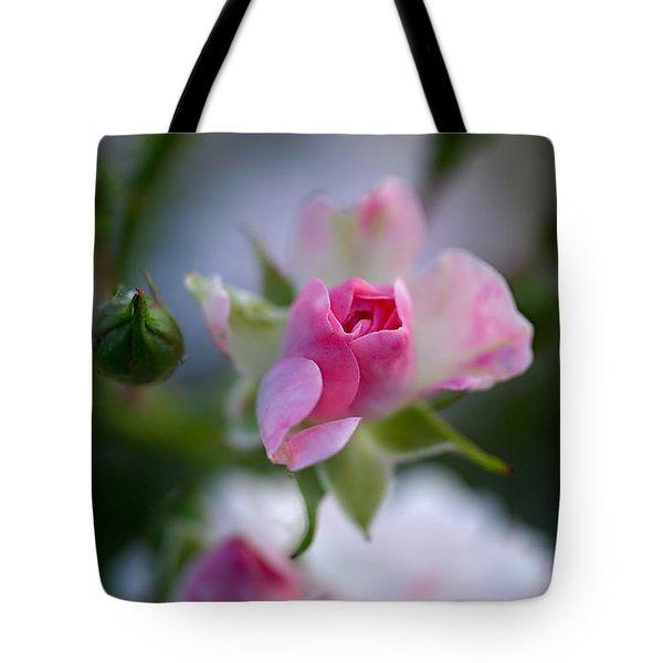 Rose Emergent Tote Bag by Rona Black