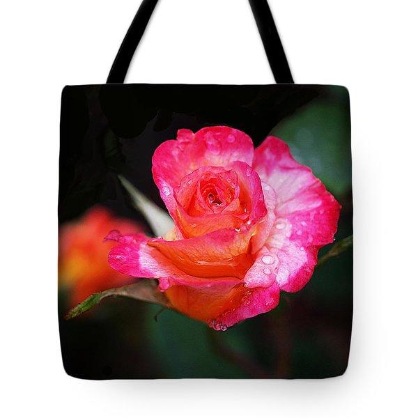 Rose Mardi Gras Tote Bag by Rona Black