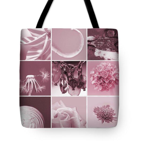 Rose Mosaic Tote Bag by Lisa Knechtel