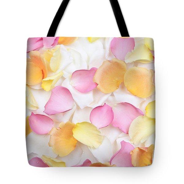Rose Petals Background Tote Bag by Elena Elisseeva