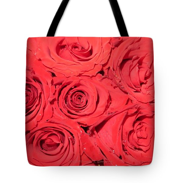 Rose Swirls Tote Bag by Sonali Gangane