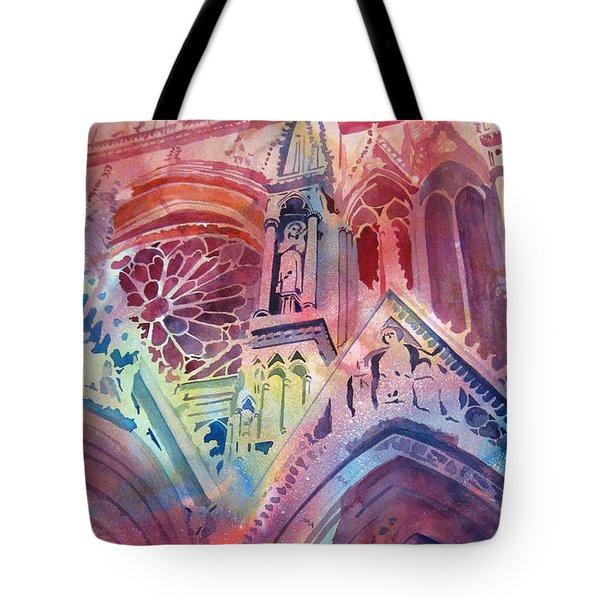 Rose Window Tote Bag by Kris Parins