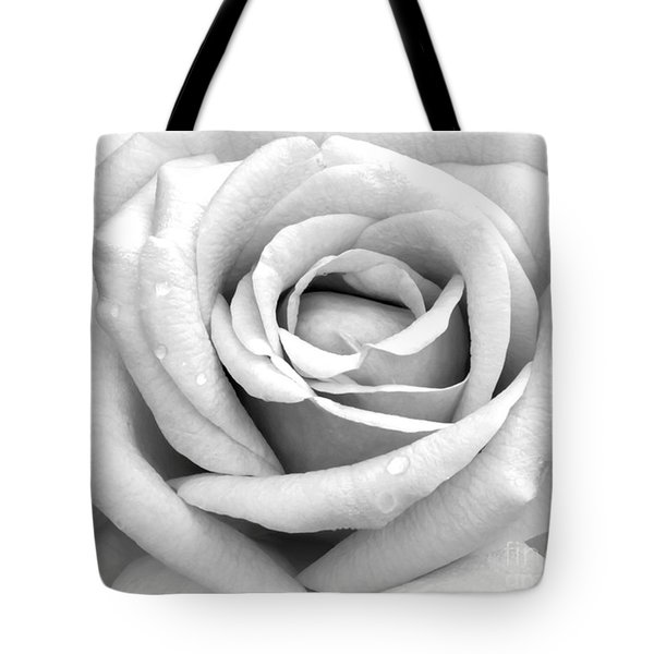 Rose With Tears Tote Bag by Sabrina L Ryan