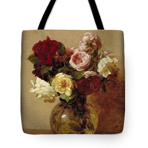 Roses Tote Bag by Ignace Henri Jean Fantin-Latour