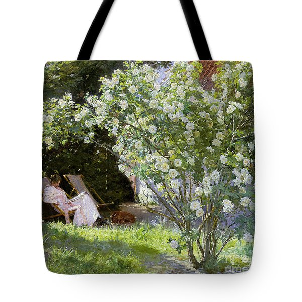 Roses Tote Bag by Peder Severin Kroyer
