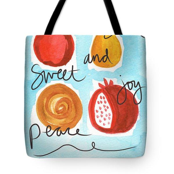 Rosh Hashanah Blessings Tote Bag by Linda Woods