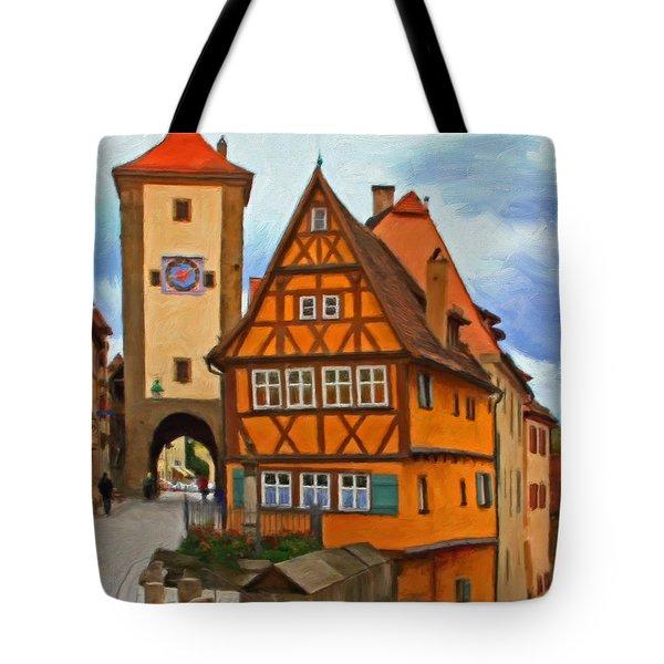 Rothenburg Tote Bag by Michael Pickett