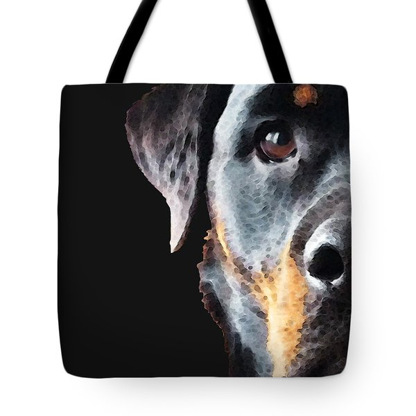 Rottie Love - Rottweiler Art By Sharon Cummings Tote Bag by Sharon Cummings