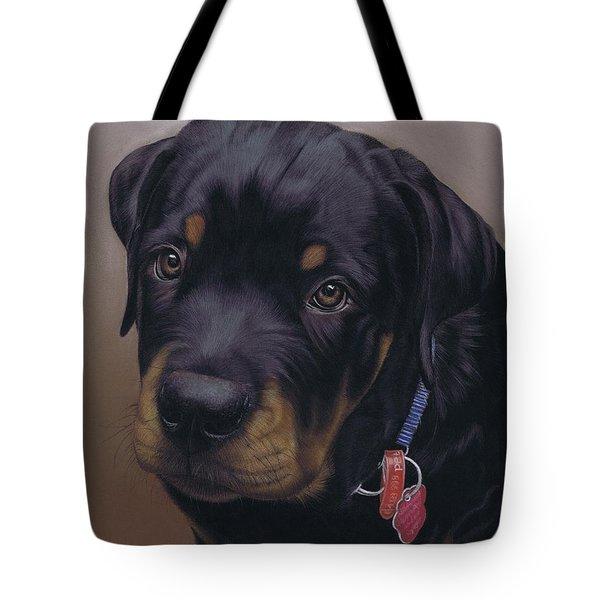 Rottweiler Dog Tote Bag by Karie-Ann Cooper