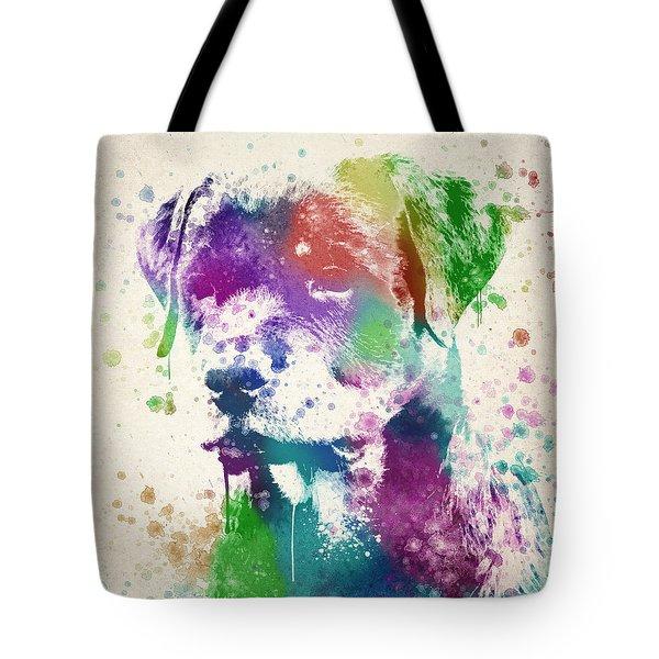 Rottweiler Splash Tote Bag by Aged Pixel