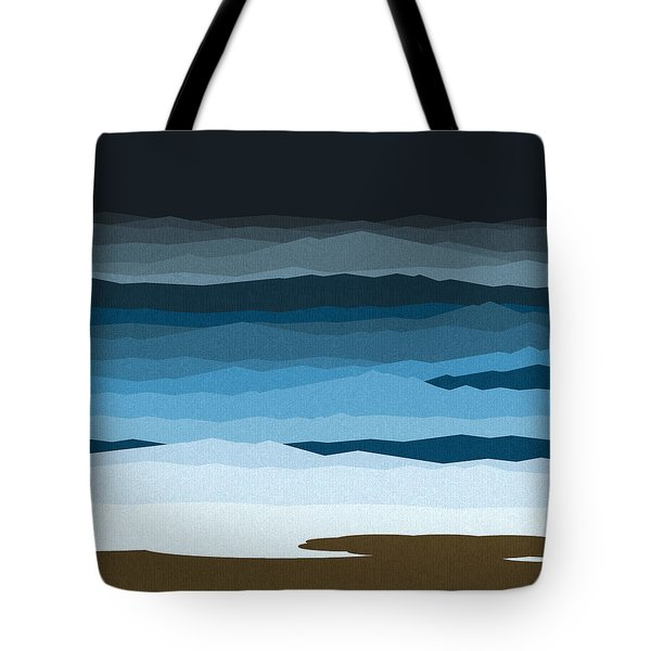 Rough Seas Tote Bag by Val Arie