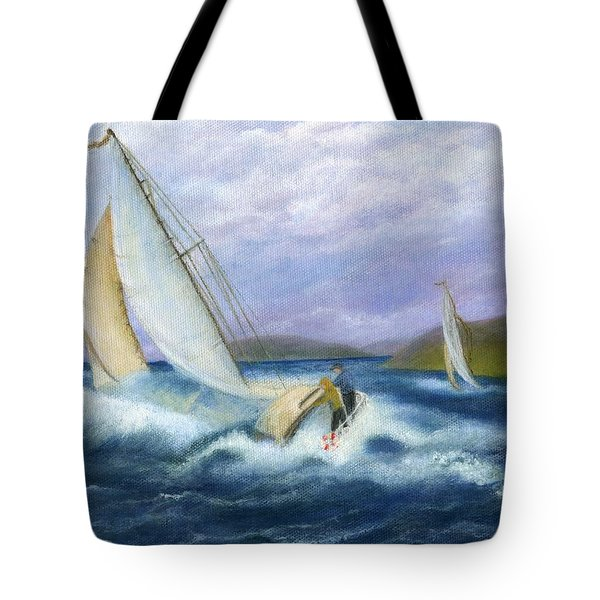 Rough Water Sailing Tote Bag by Catherine Howard