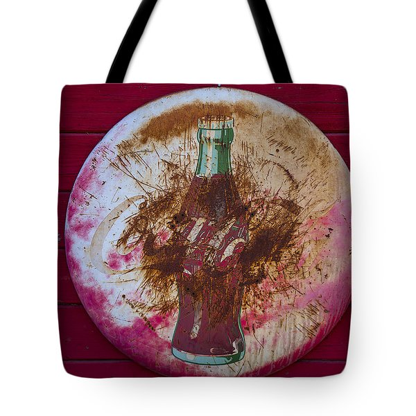 Round Coke Sign Tote Bag by Garry Gay