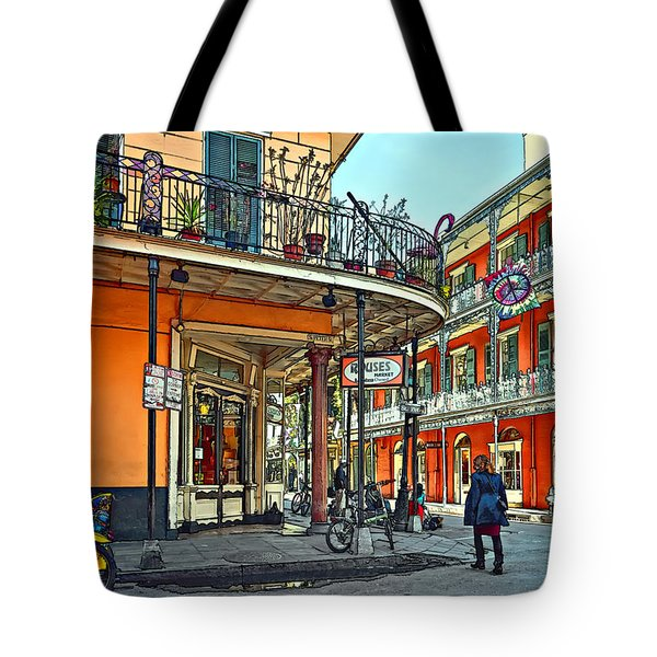 Rouses Market Painted Tote Bag by Steve Harrington