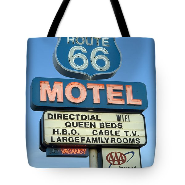 Route 66 Motel Sign 3 Tote Bag by Bob Christopher