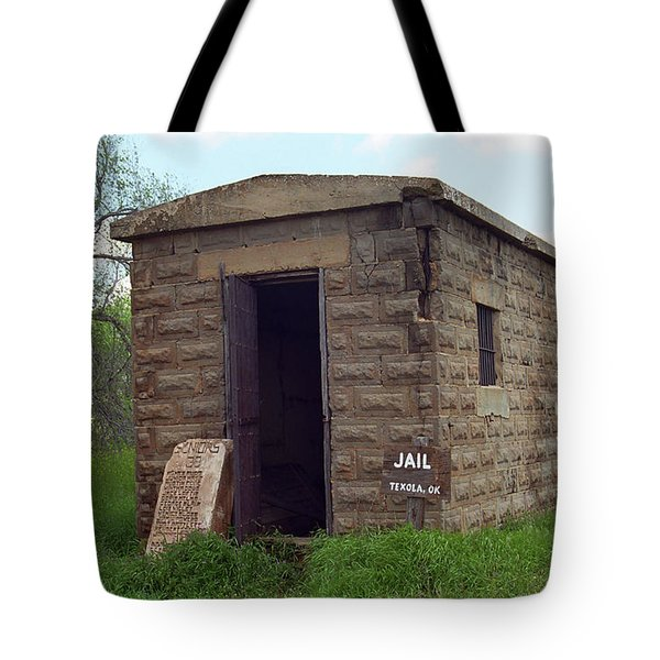 Route 66 - Texola Jail Tote Bag by Frank Romeo