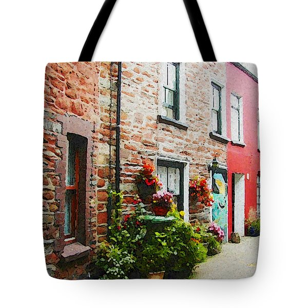 Row With Flowers Tote Bag by Lenore Senior and Constance Widen
