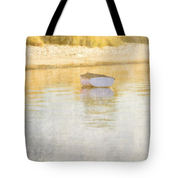 Rowboat In The Summer Sun Tote Bag by Carol Leigh