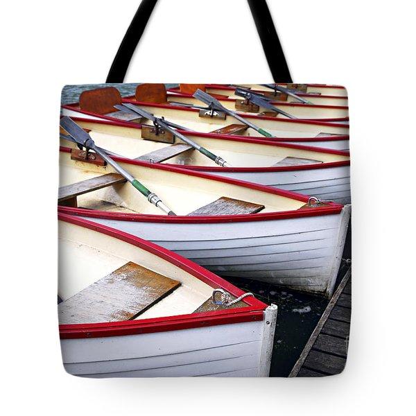 Rowboats Tote Bag by Elena Elisseeva